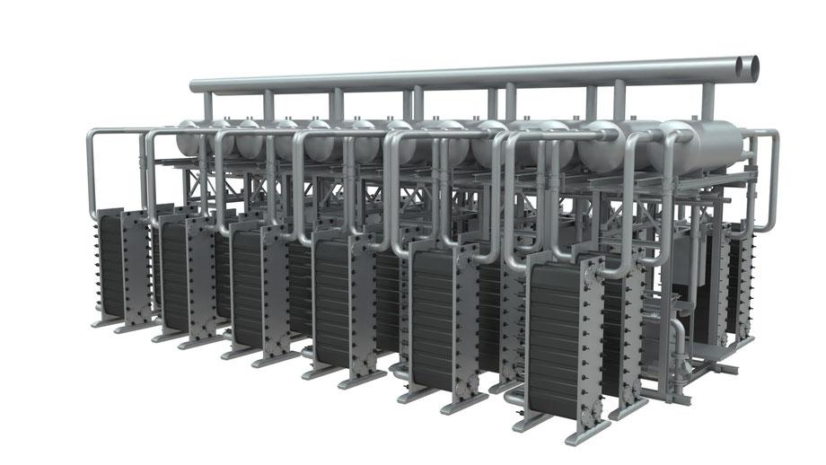 Werkfoto Siemens eines 2,4GW Electrolyseur für Wasserstoffproduktion (Regelenergie Stromnetz)