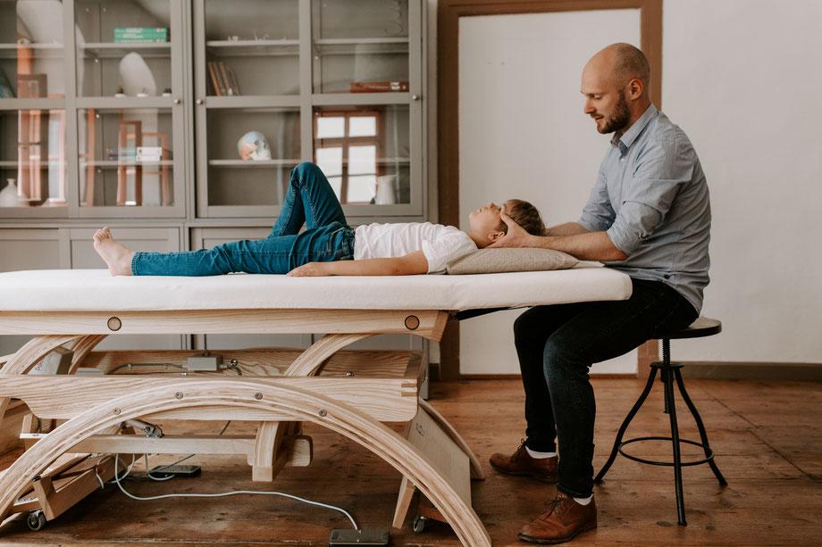 osteopathische Behandlung Schädel