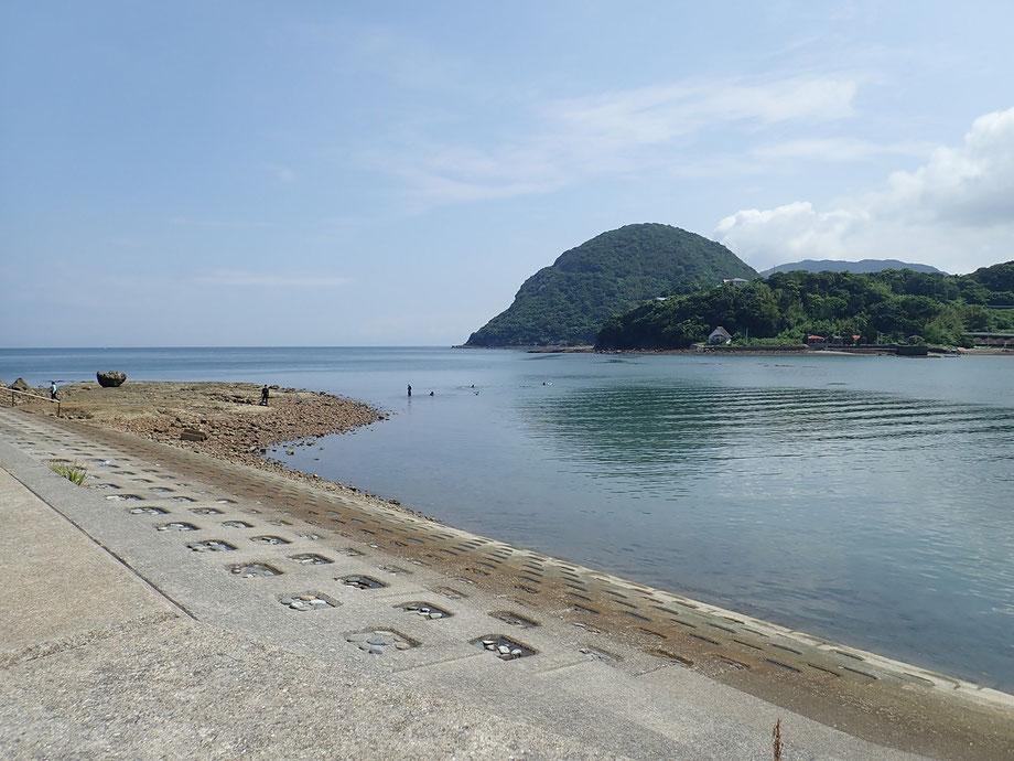 白涛海岸シュノーケリング風景