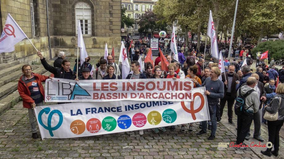 Les Insoumis d'ici et d'ailleurs partiront la fin du cortège syndical, ce mardi 9 ocotbre 2018, à Bordeaux
