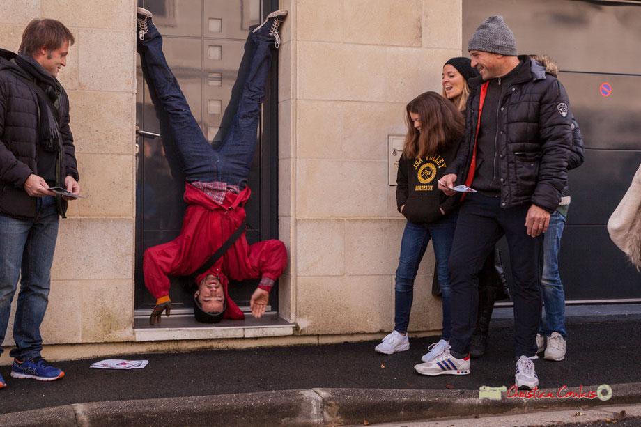 Compagnie la Hurlante photographiée par Christian Coulais. Quartier de la glacière, Mérignac, le 24 novembre 2018