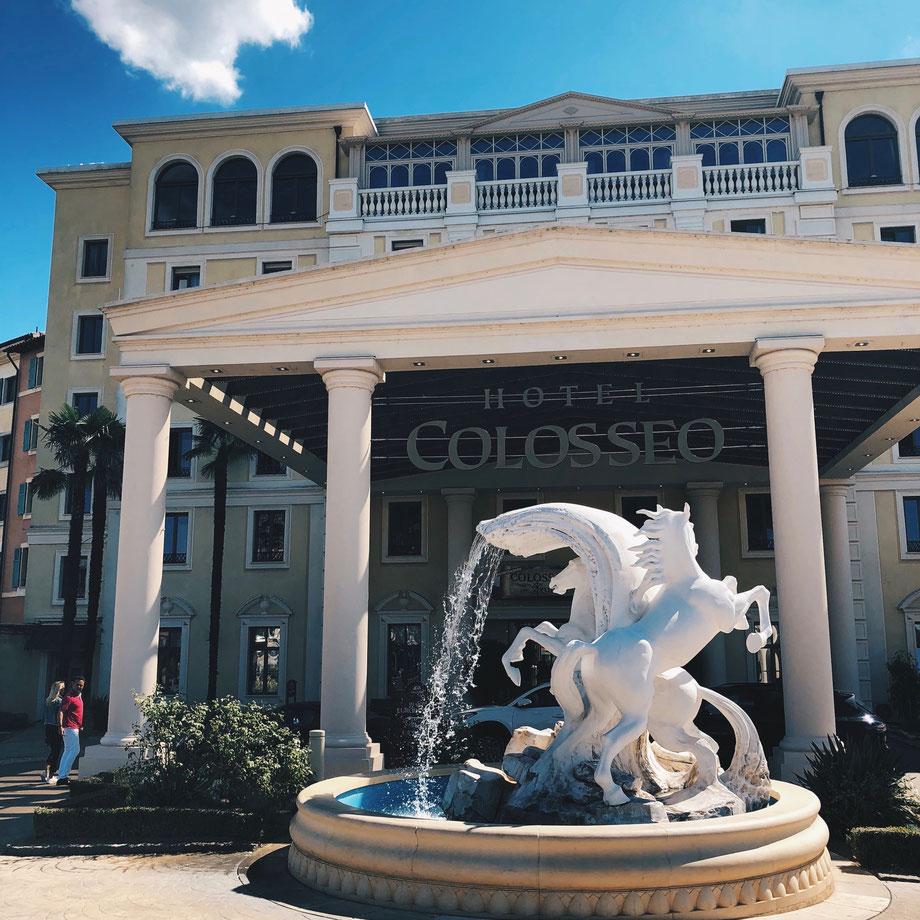 Hotel Colosseo mit VIP Promi Stefan Mross auf dem Bild (ist einfach reingelaufen)