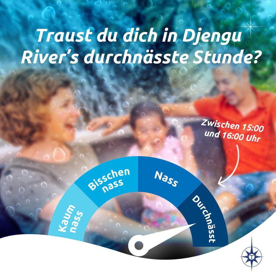 """Freizeitpark Toverland präsentiert die """"durchnässte Stunde"""" in der Wildwasserbahn"""