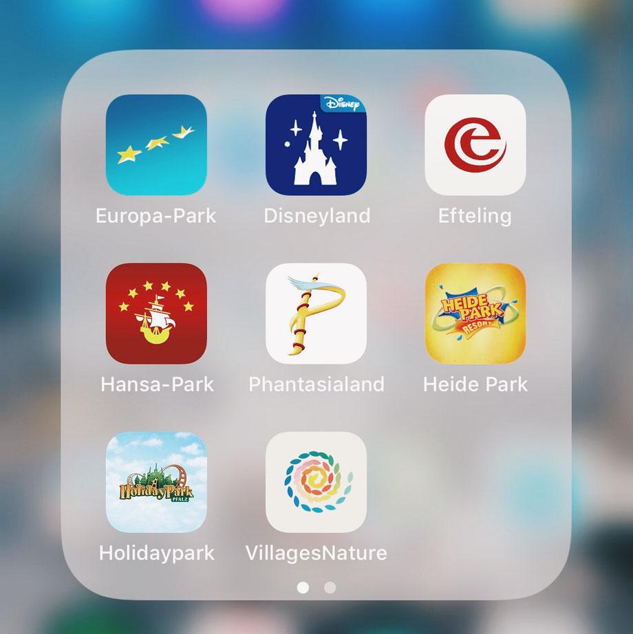 Freizeitpark-Apps im Überblick