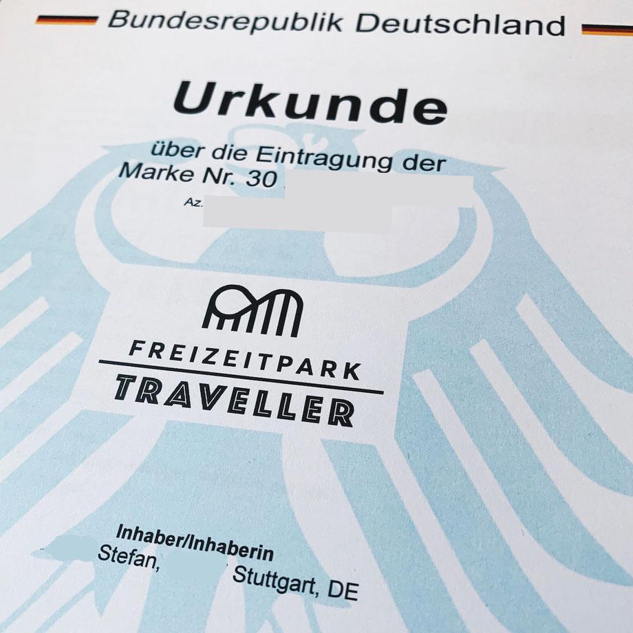 Freizeitpark Traveller - Eingetragener Markenname