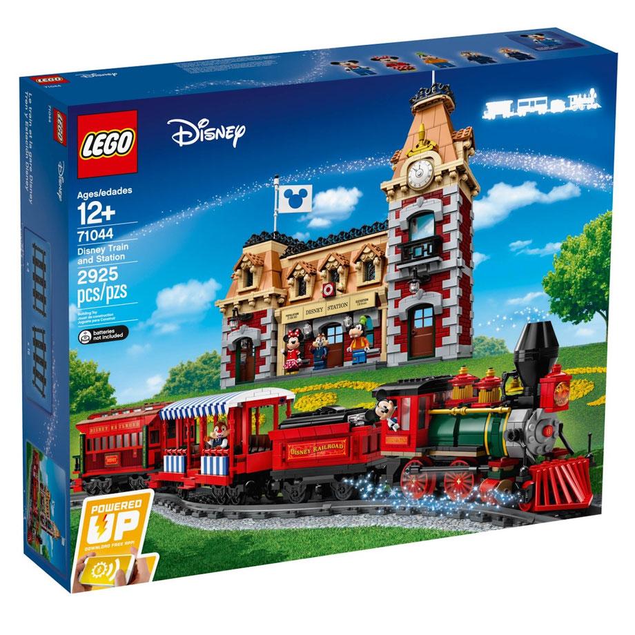 LEGO Disney Zug mit Bahnhof im legendären Stil der Disney Parks®
