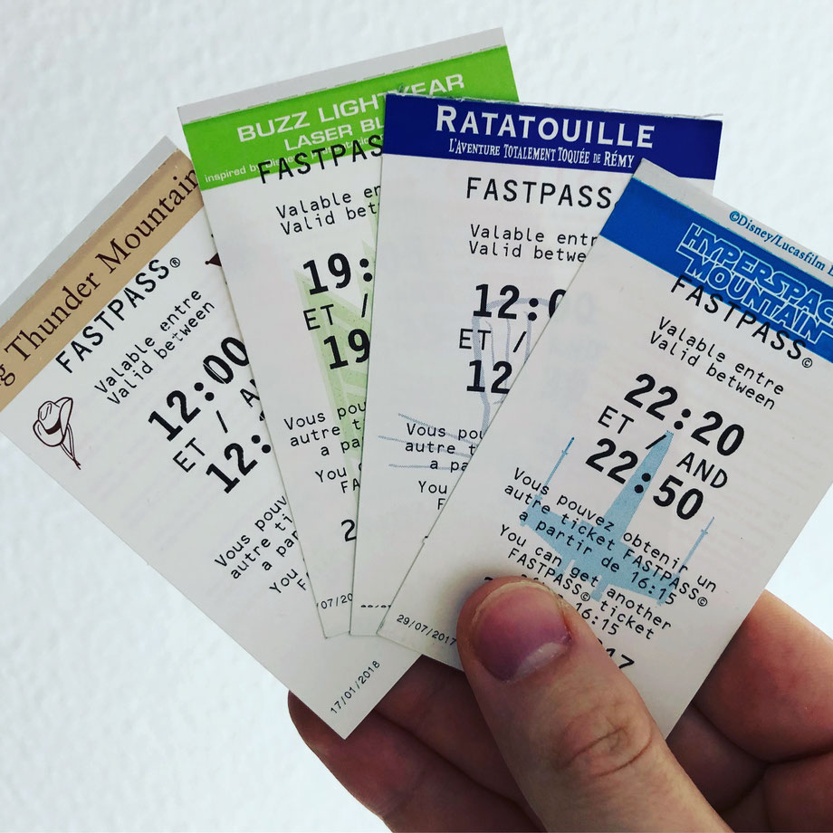 FastPass Tickets im Disneyland Paris