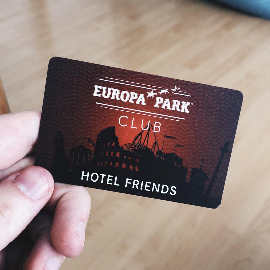Europa-Park Hotel Friends Bonusprogramm Karte