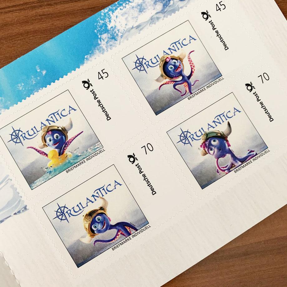 """Snorri Briefmarken zum neuen Wasserpark """"Rulantica"""""""
