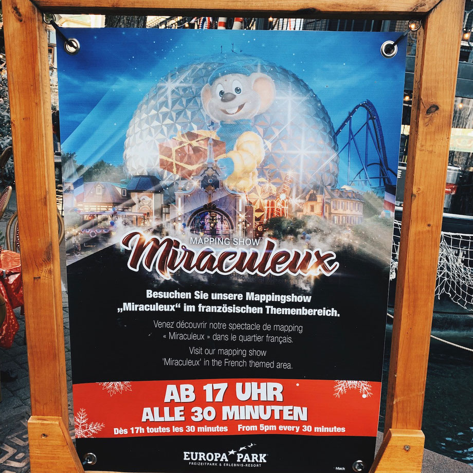 Neue Video-Mapping-Show MIRACULEUX im Europa-Park