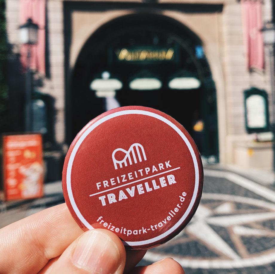 Freizeitpark Traveller Button