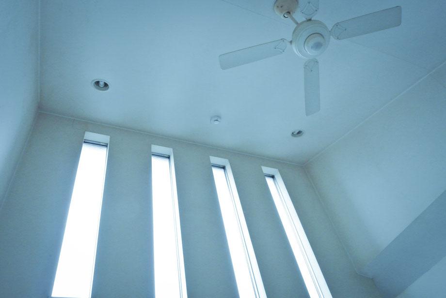 天井が高くてすごい解放感