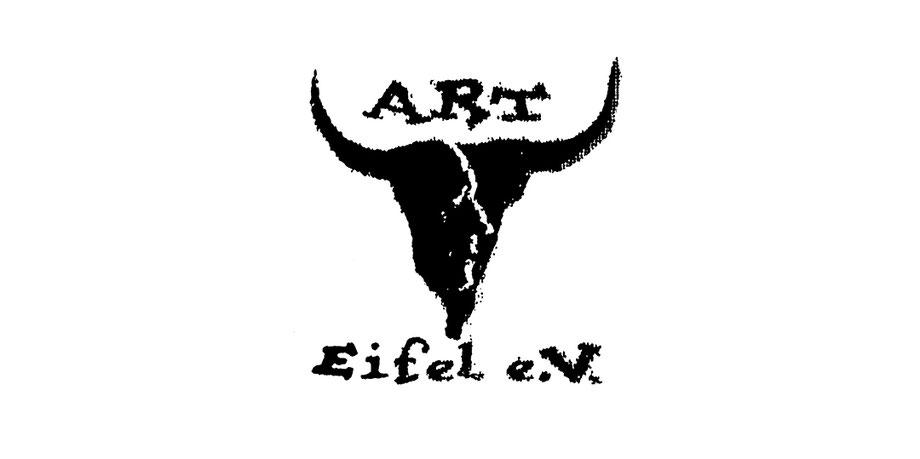 Schablone, stencil, Spray, Sprühtechnik, gesprayed, Stempel, schwarz, weiß, Hörner, Kopf, Eifel, Kunst, Verein