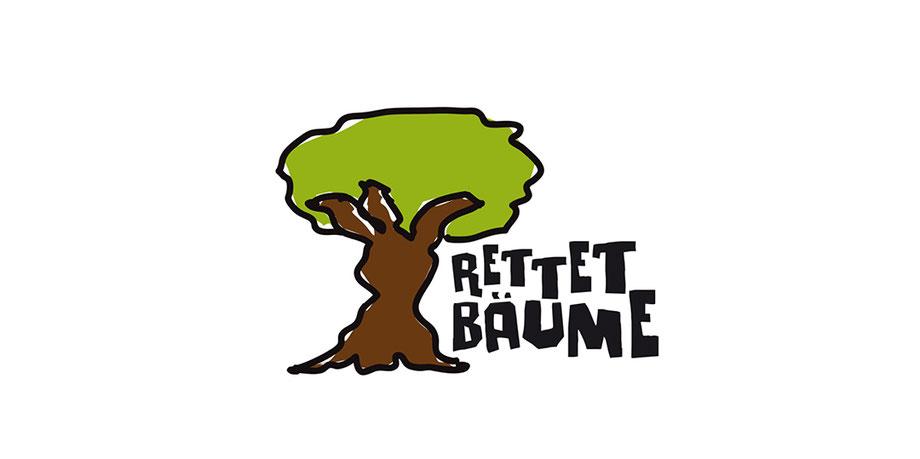 Baum, Umrandung, Outline, Bildelement, handgeschrieben, Kartoffeldruck, Logodesign, illustriert, Zeichnung