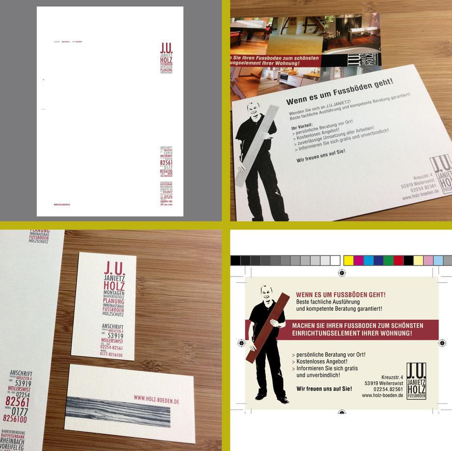 Geschäftspapierausstattung, Autobeschriftung, Fahrzeugwerbung, Postkarten