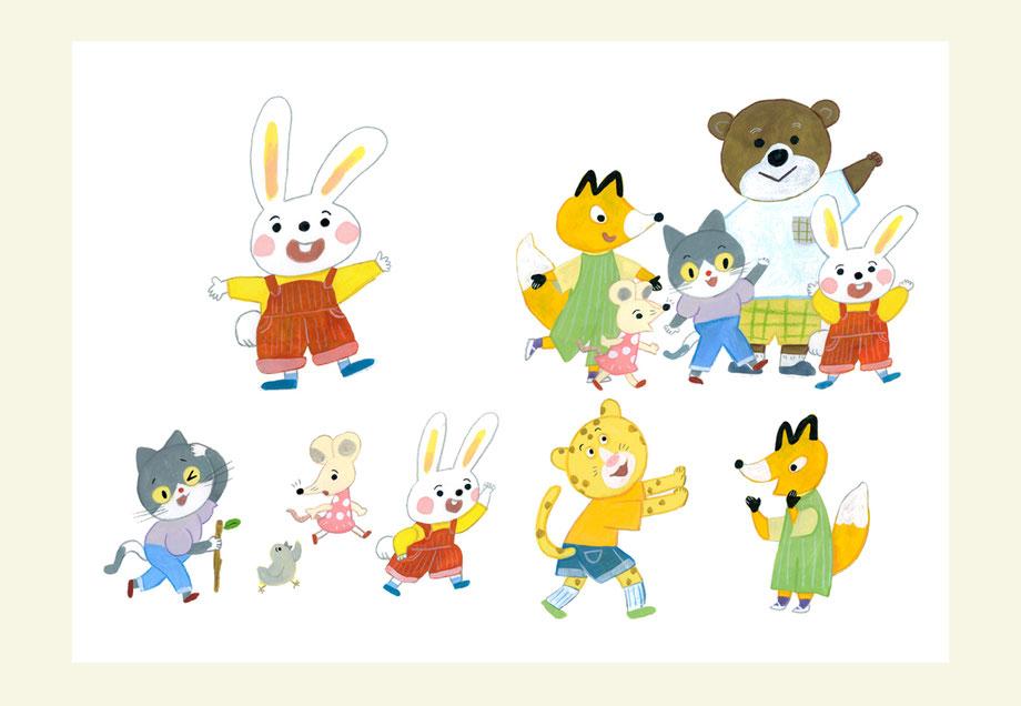 本文イラストのキャラクターカット