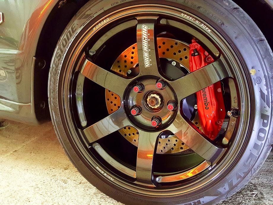 ボルクレーシング TE37SAGAのホイールコーティング rays レイズ鍛造ホイール 埼玉の車磨き専門店