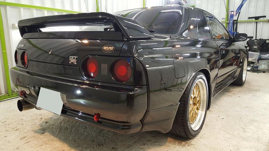 BNR32 磨きで黒本来の艶 ブラックパールメタリックの傷・色褪せ改善 埼玉所沢