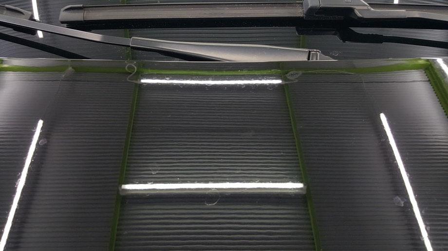 プジョー308GTI クレーター・シミ ボンネット