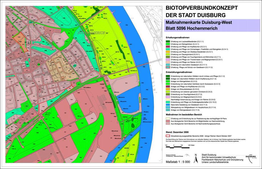 Quelle: Stadt Duisburg Biotopverbundkonzept Blatt 5096. Erstellt 2008, erkennbar die Auskiesungsfläche, mittlerweile zugeschüttet.
