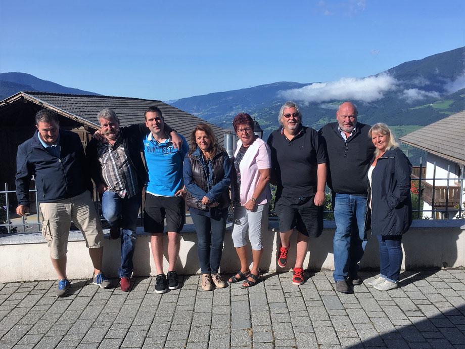Das Team der Ausfahrt Dolomiten 2017