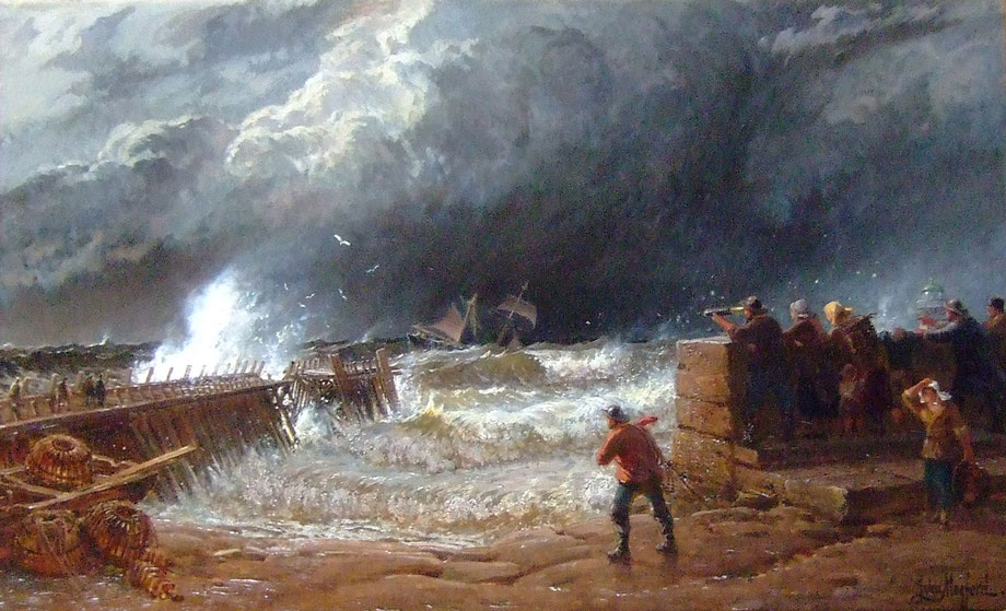 John Mogford  'A Break in the Clouds - Crossing the Bar - St Ives'