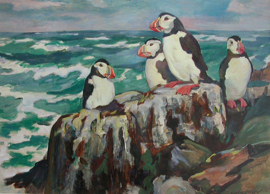 Charles Simpson  'Puffins'
