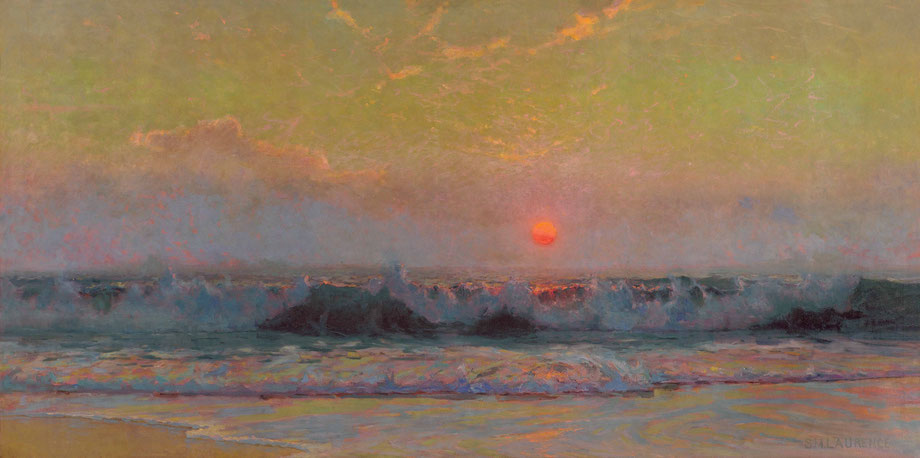 Sydney Laurence  'Setting Sun on the Cornish Coast'  (Southampton Art Gallery)