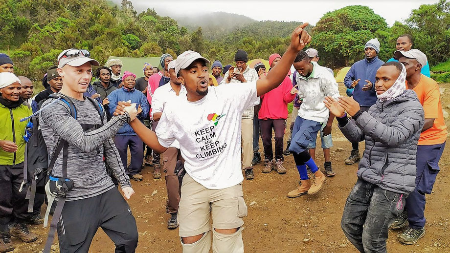 Singing and Dancing on Mount Kilimanjaro