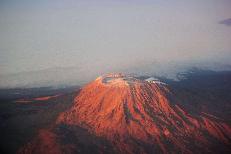 Vogelperspektive Kilimandscharo