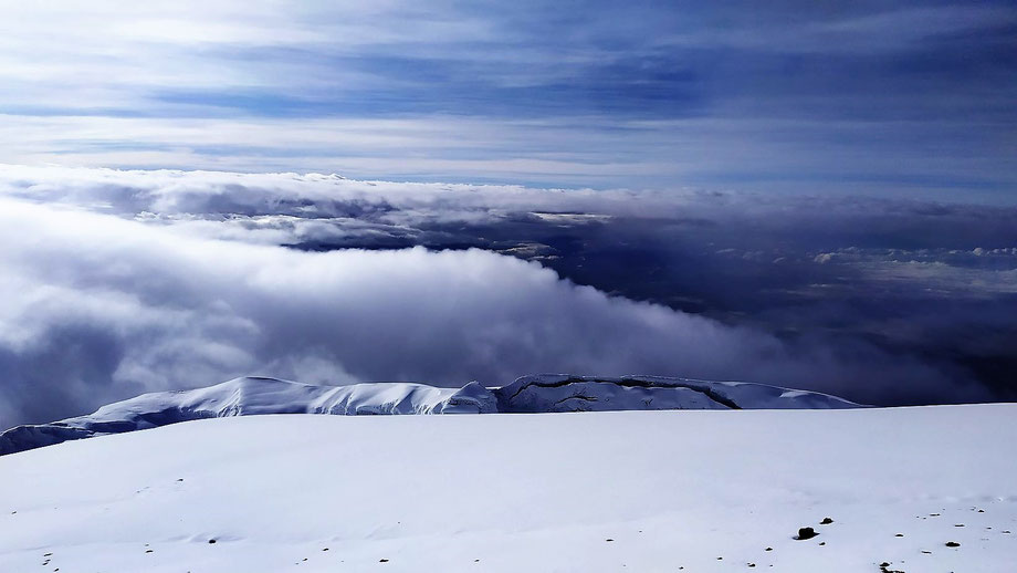 View from Uhuru Peak - Kilimanjaro Images in February