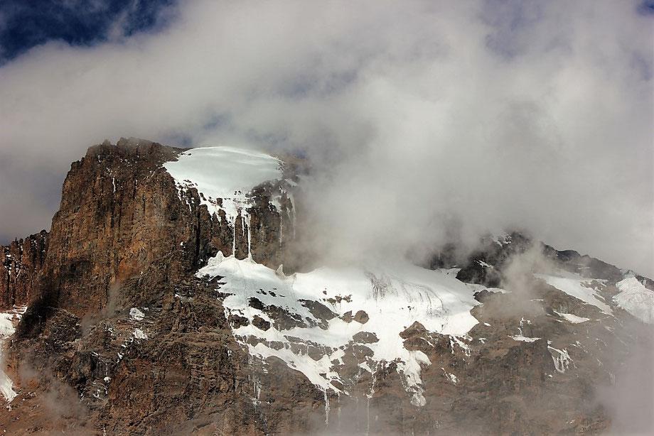 Kilimanjaro Glacier from Barranco Camp