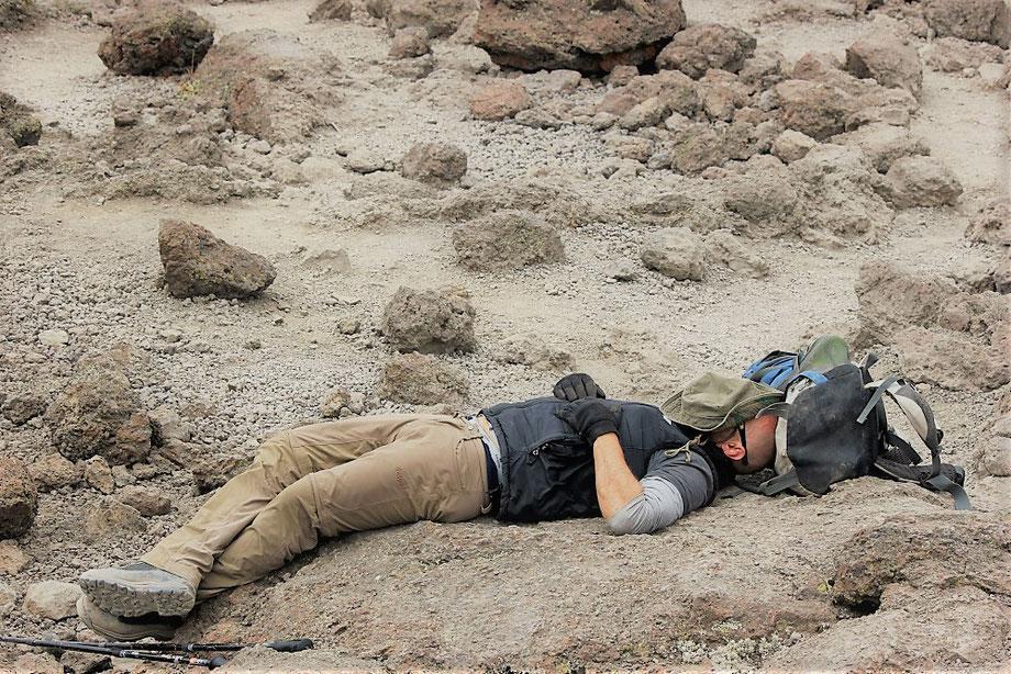 Sleeping on Mount Kilimanjaro
