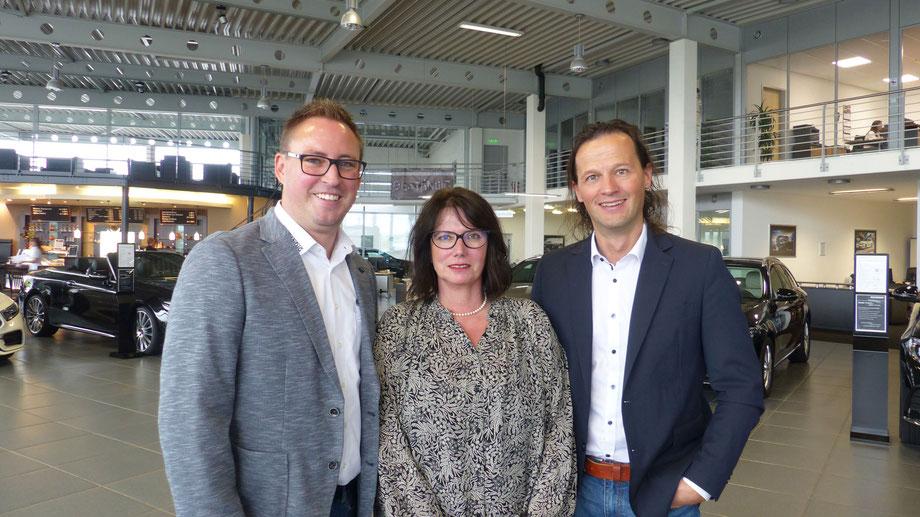 Die Vorstandschaft Auto Freizeit Sport e.V.: 1. Vorsitzender Daniel Beständig, Schatzmeisterin Elke Spath und 2. Vorsitzender Volker Hummel