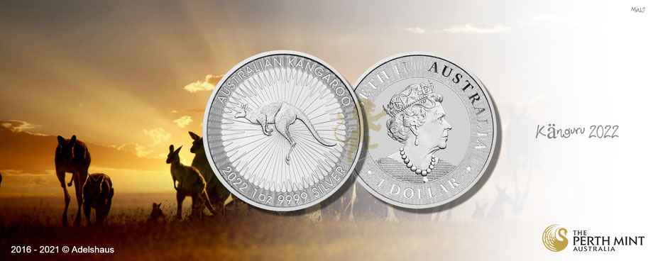 känguru ,kangaroo, australien ,münzen, silbermünzen, masterbox, tube ,1 unze ,silber, kaufen, adelshaus