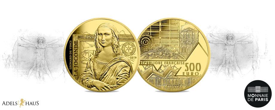 mona lisa euro monnaiedeparis france frankreich 2019 gold silber silver coin münze