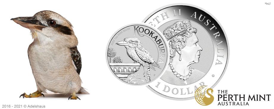 kookaburra 2022, silber, silbermünzen , australien, perth mint, silber kaufen, silber, preis, adelshaus,