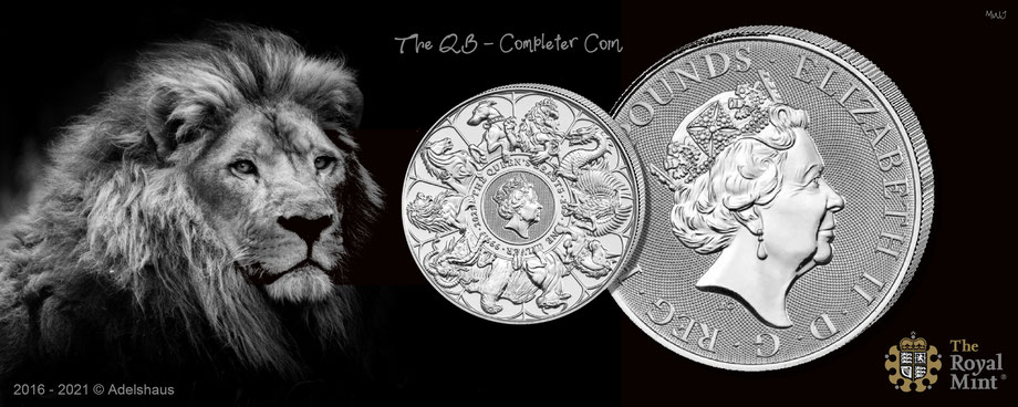 the queen's beasts completer coin 2021 silbermünzen adelshaus anlage investment