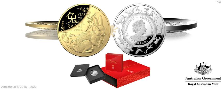 münzen, australien sammlermünzen 2022, royal australian mint, adelshaus, gold, silber