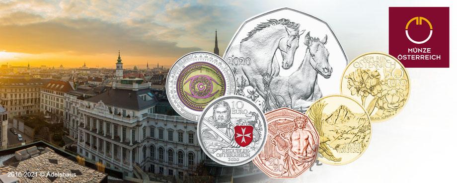 2020 österreich ausgaben gold silber kupfer euro münzen adelshaus sammlermünzen anlagegold