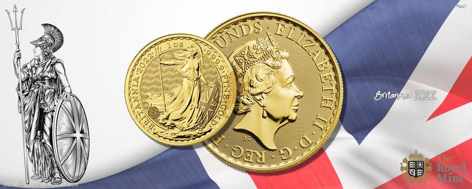 gold, britannia 2022, goldmünze britannia 2022, royal mint, 1 unze gold, goldpreis, adelshaus