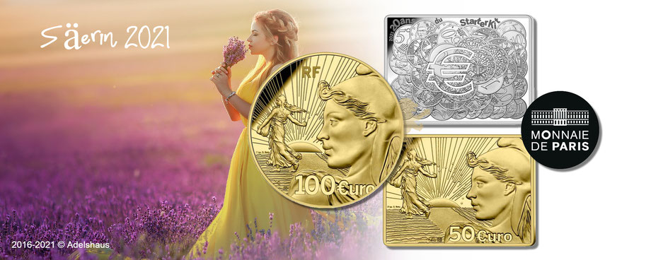 sammlermünzen frankreich monnaiedeparis goldmünzen Gold silber münzen  semeuse säerin starterkit adelshaus