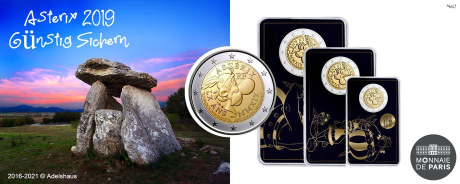 asterix 2 euro coincard 2019 monnaie de paris sammlermünzen adelshaus