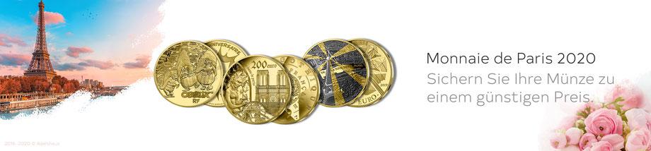 euro gold silber monnaie de paris monnaiedeparis frankreich 2020 euromünzen sammlermünzen kaufen günstig adelshaus goldmünzen silbermünzen gendenkmünzen