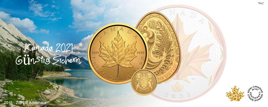 royal mint canada pysanka maple leaf wappen 2021 gold silber sammlermünzen kanada adelshaus