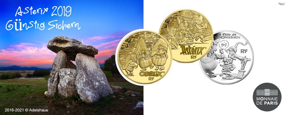 asterix france frankreich gold silber 2019 sammlermünzen adelshaus