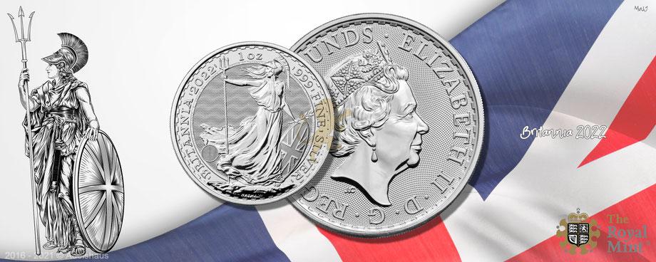 silber, britannia silber 2022, silbermünze, royal mint, silber preis, 2022, 1 unze silber, adelshaus