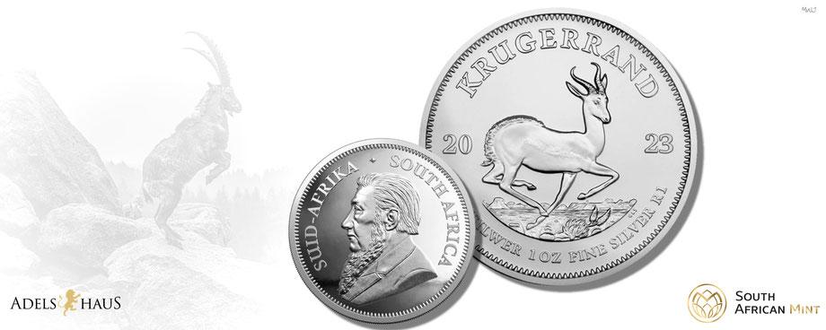 krügerrand neu new 2021 silver coin silbermünze adelshaus