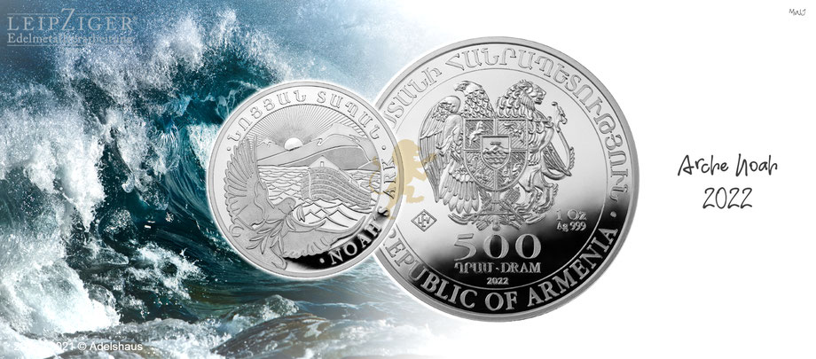 arche noah silber silbermünzen 2021 adelshaus tube masterbox