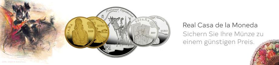 spanien spain münzen coins dali salvador euro goldmünzen silbermünzen  adelshaus